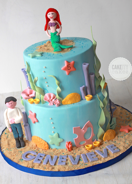 Ocean Themed Birthday Cakeity Cakes