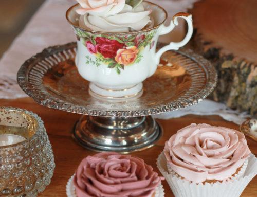 Tea Cup Rose Cupcakes