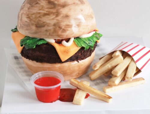 Burger Cake with Sugar Cookie Fries